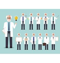 Scientist professor vector