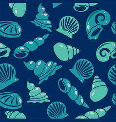 seamless sea shells pattern vector image