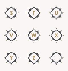 set emblem s vector image