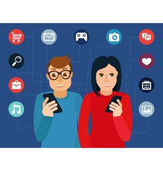 social media addiction concept vector image