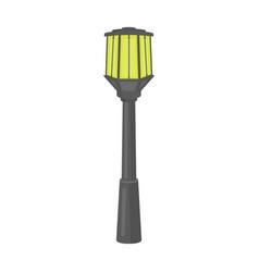 Street lights in retro style lamppost single icon vector