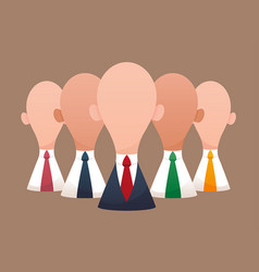 super business team-team of super businessmen vector image