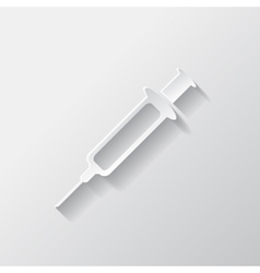 Syringe web icon vector image