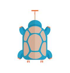 travel children turtle suitcase vector image