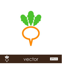 Turnip outline icon vegetable root vector
