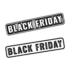 Two black realistic Black Friday stamps vector