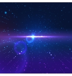 universe galaxy space in motion vector image