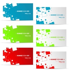Various business card design vector