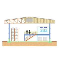 Warehouse building storage section structure vector image
