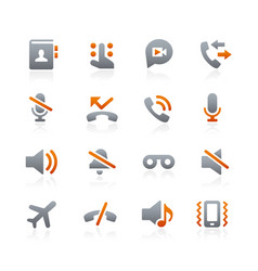 Web and mobile icons 1 - graphite series vector