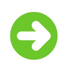 white right next arrow in green circle 2 vector image