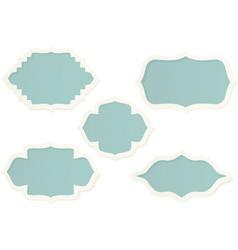 elegant labels vector image vector image