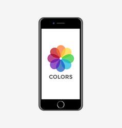 digital realistic mobile vector image