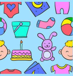 Doodle of baby art vector