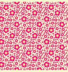 flower geometric seamless pattern fashion graphic vector image