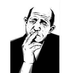 Man smokes vector