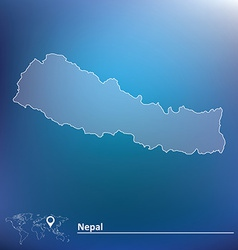Map of Nepal vector image vector image