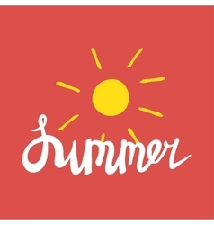 Summer quote Brush pen handwritten vector image