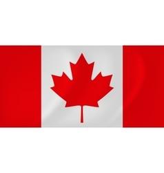 Canada waving flag vector image vector image