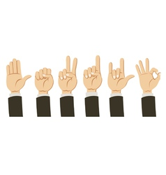 Cartoon Hands collection vector image