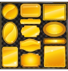 decorative ornate gold frame label vector image vector image