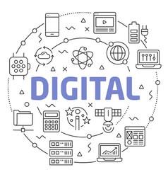 digital linear vector image vector image