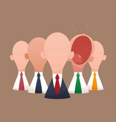 super business team-team of super businessmen vector image vector image