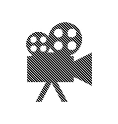 Video camera sign vector image