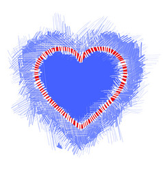 with a blue valentine heart vector image vector image