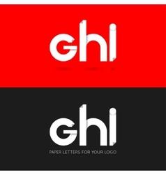 letter G H I logo paper set background vector image vector image