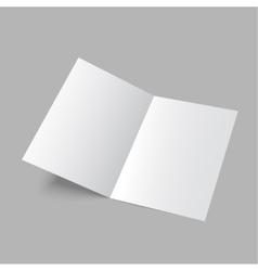 Open magazine vector image