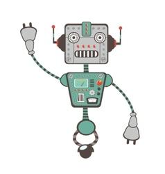 Robot character vector image vector image