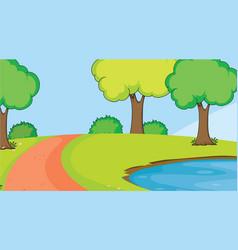 a simple nature landscape vector image