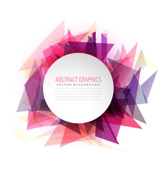 Abstract triangle shapes colorful frame with vector