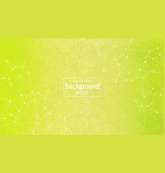 abstract yellow green polygonal space background vector image