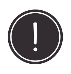 Alert icon attention danger exclamation mark vector