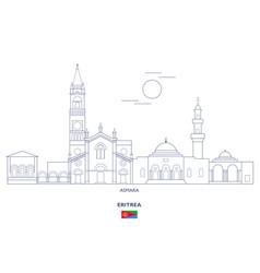 Asmara city skyline vector