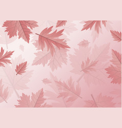 Autumn leaves background design with copy space vector