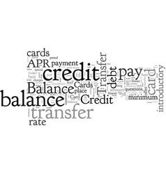 Balance transfer credit cards faq vector