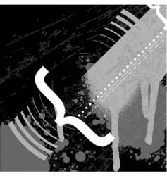 black and white typo graffiti vector image vector image