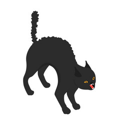 Black scary cat icon isometric style vector