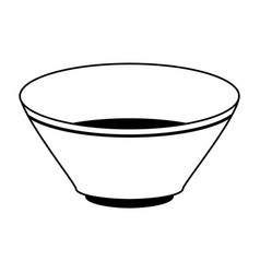 Bowl dishware icon image vector