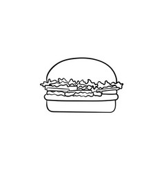 burger hand drawn sketch icon vector image