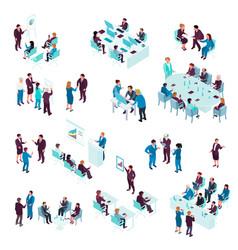 Business education isometric set vector