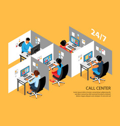 Call center isometric composition vector