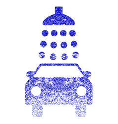 Car wash grunge textured icon vector