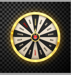 casino spinning lucky wheel realistic vector image