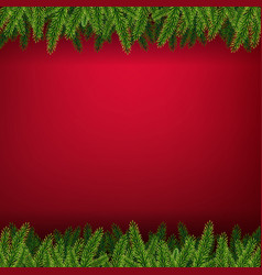 christmas card with firtree frame vector image