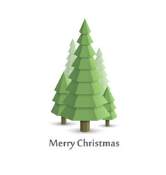 Christmas tree in woods flat style vector