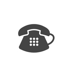 classic telephone icon graphic design template vector image